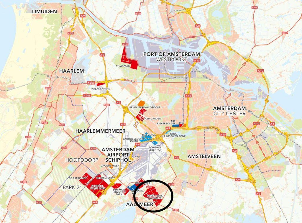 ligging Green Park Aalsmeer
