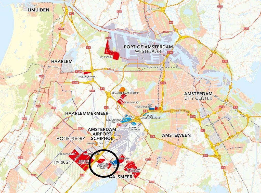 ligging Schiphol Logistics Park