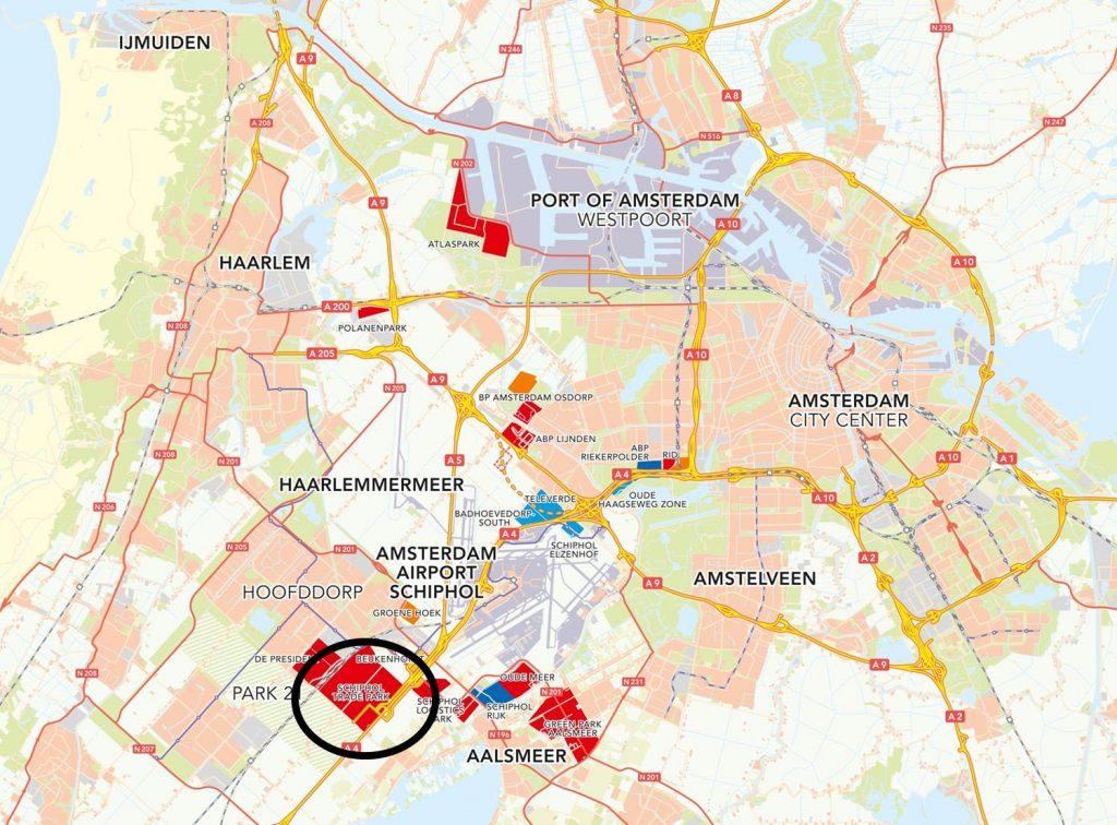 ligging Schiphol Trade Park
